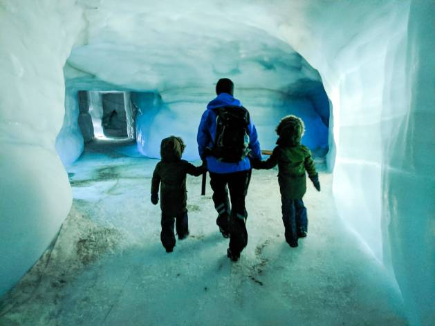 walking through the tunnels of Into The Glacier