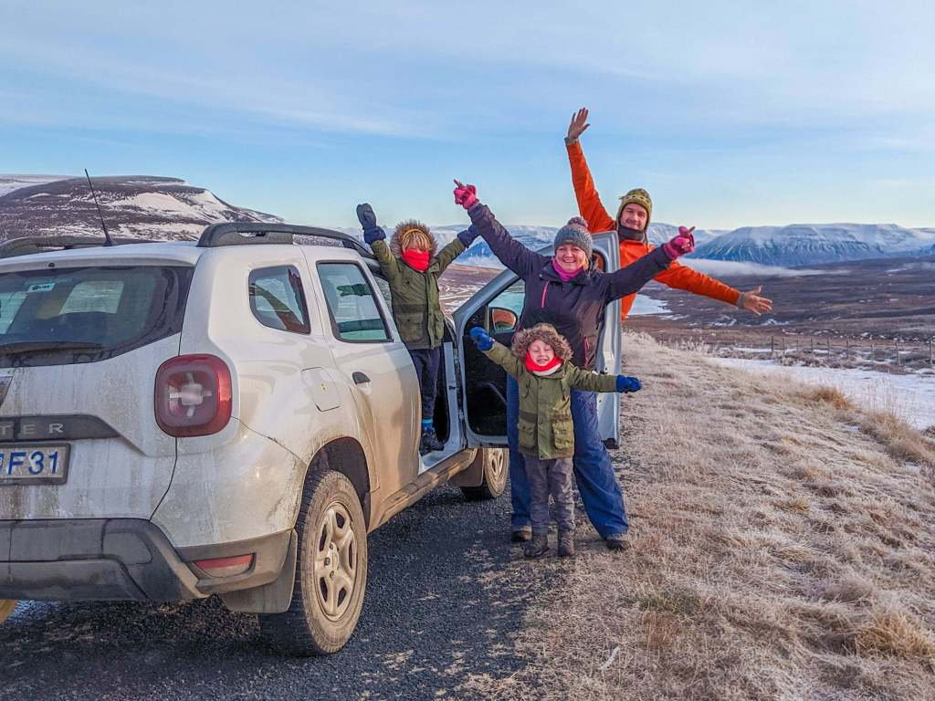 family on North Iceland itinerary