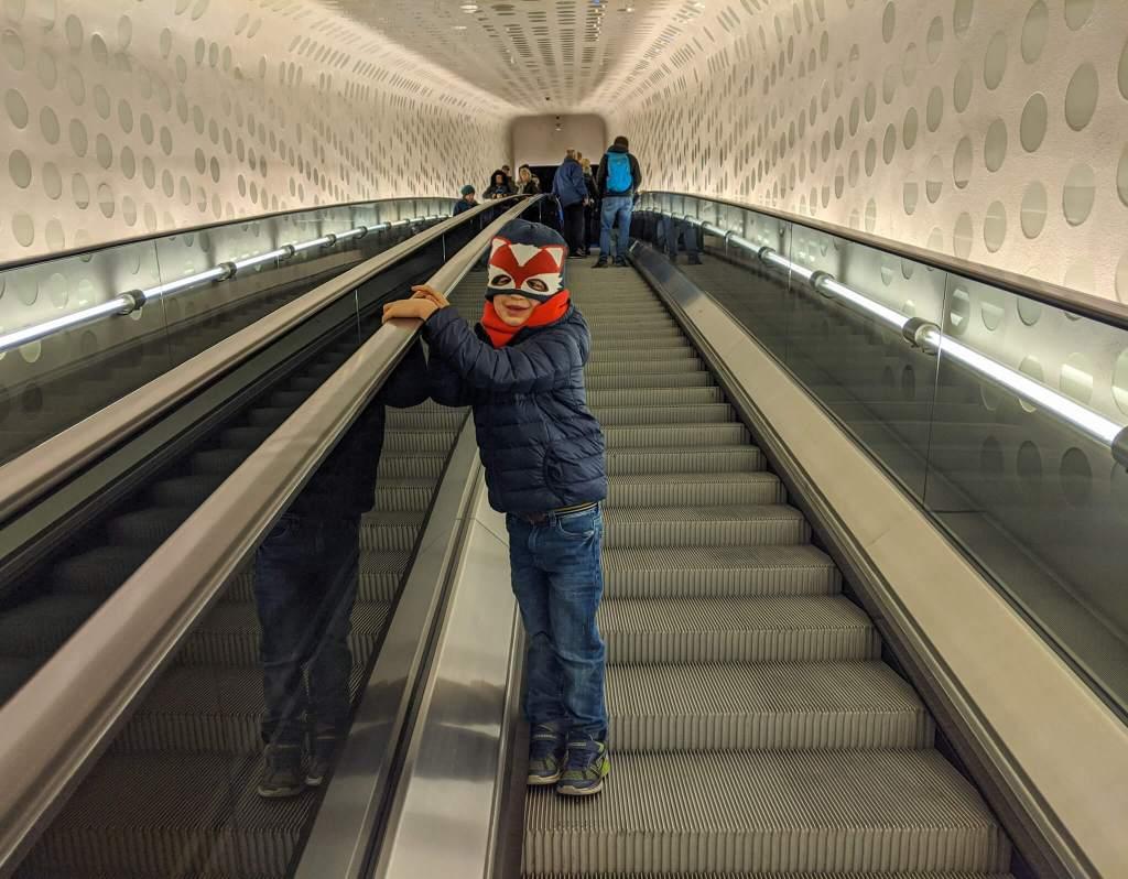 Elbphilharmonie escalator