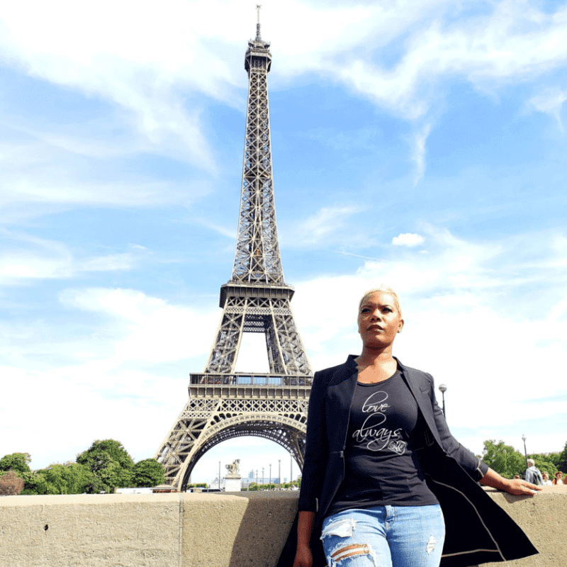 Cole Banks, Founder of Sisters Traveling Solo, in Paris