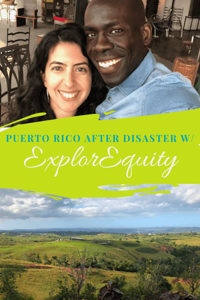 Founders of ExplorEquity and photo of Puerto Rico