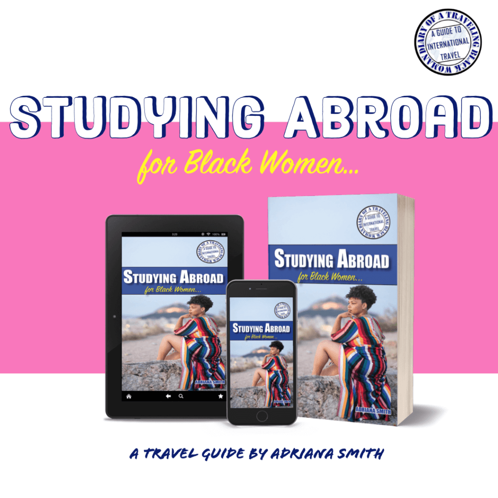 Studying Abroad for Black women advertising mockup