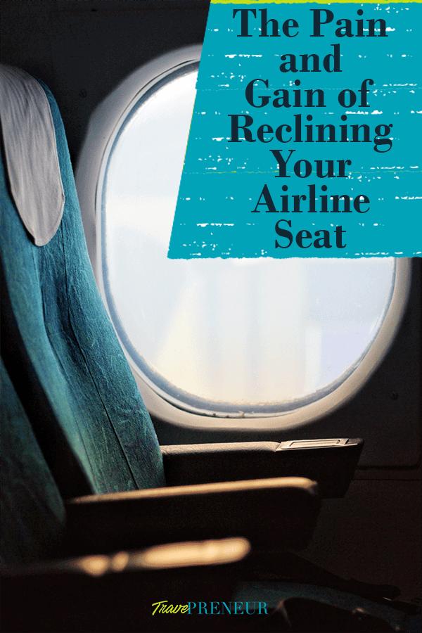 Airline Seat near window - Travepreneur pin