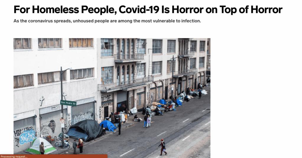 Homeless population on sidewalk