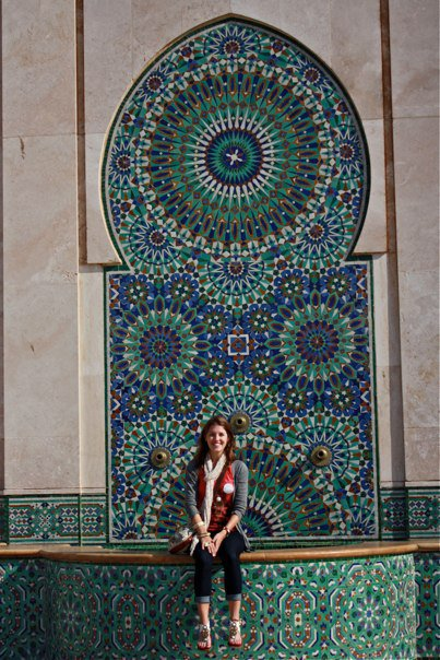 tilework at the mosque