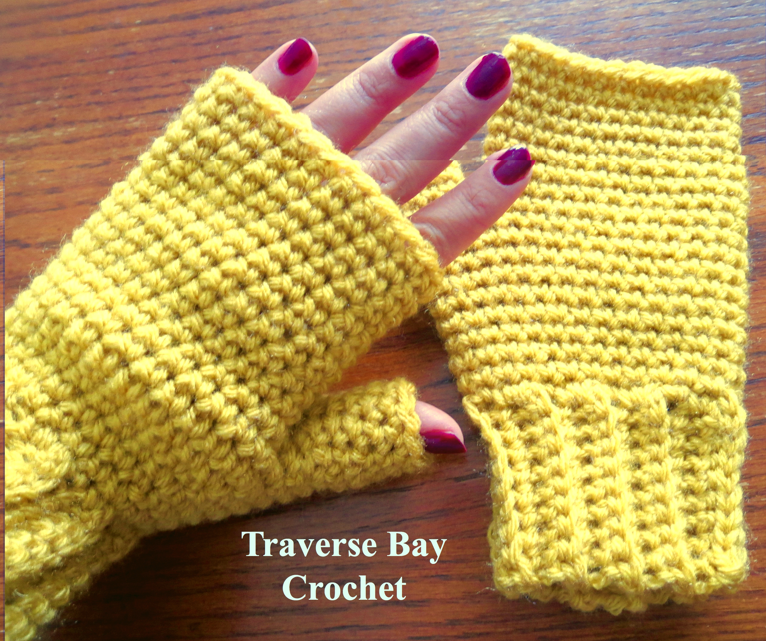 easy crochet fingerless gloves pattern, free crochet fingerless ...
