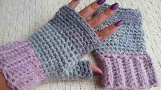 Crochet Fingerless Gloves Free Crochet Pattern Crochet Accessories