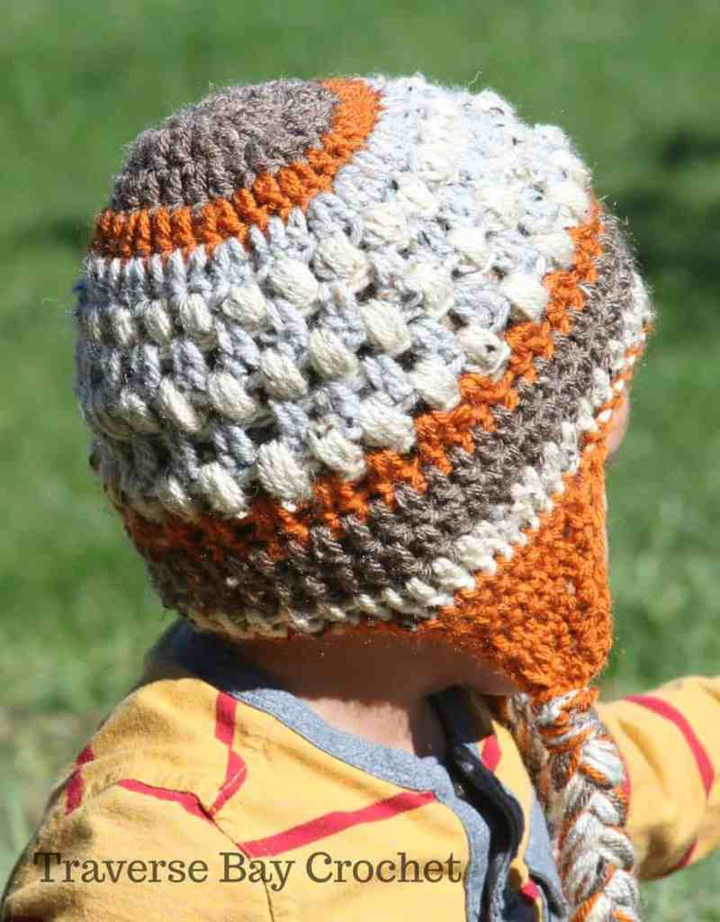 Crochet Toddler Braided Earflap Beanie