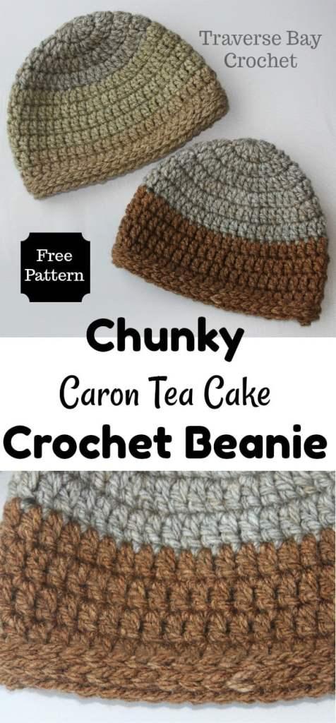 Chunky Caron Tea Cake Crochet Beanie