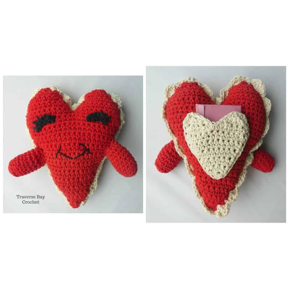 Crochet Heart Pillow Buddy
