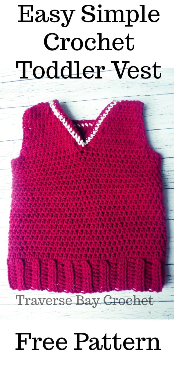 Simple Toddler Crochet Vest
