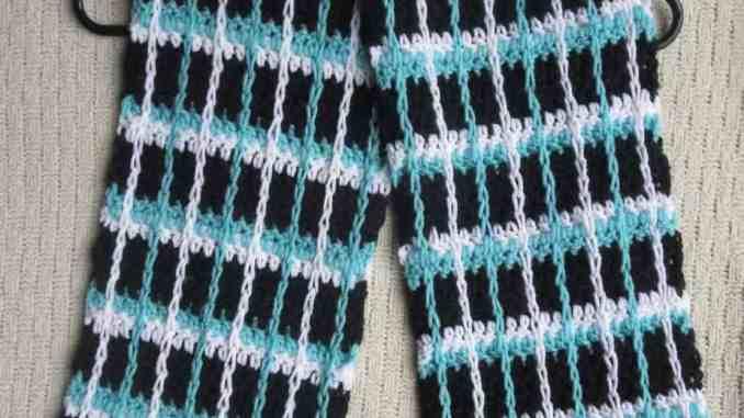Crochet Stripe Scarf Free Crochet Pattern Surface Crochet Pattern