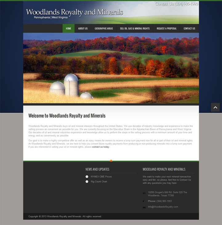 Oil-Company-Website-Design-Michigan-Home