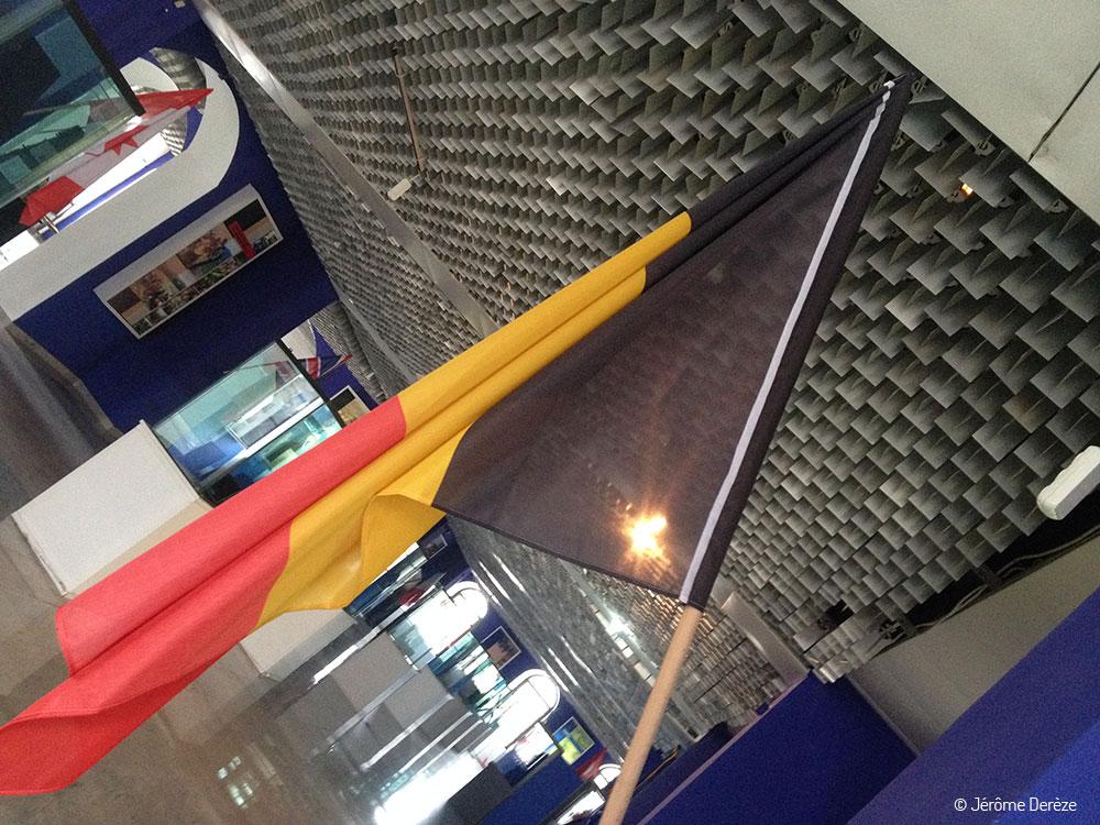 Drapeau belge au Musée du Kosovo à Pristina