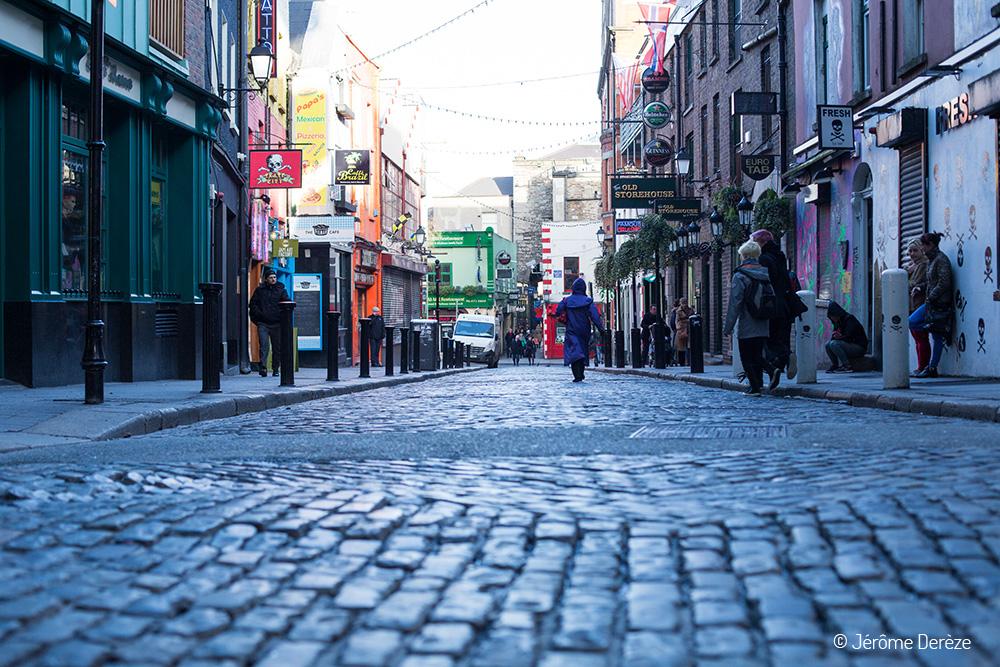Rue de Dublin vers le musée de photographie de Dublin
