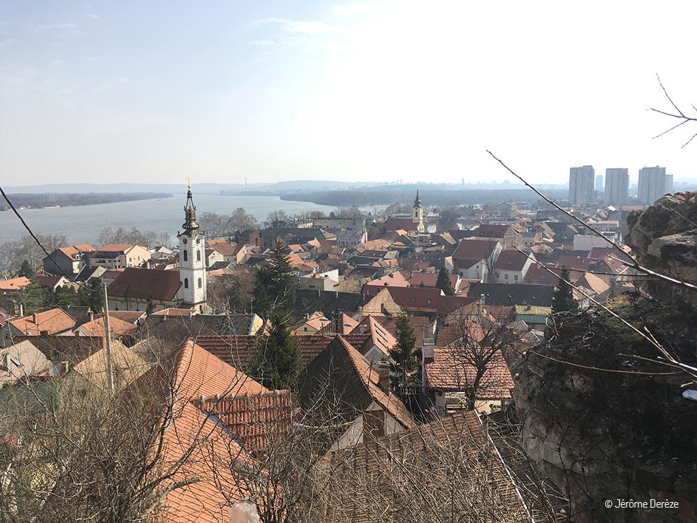 Vue sur Belgrade depuis Zemun