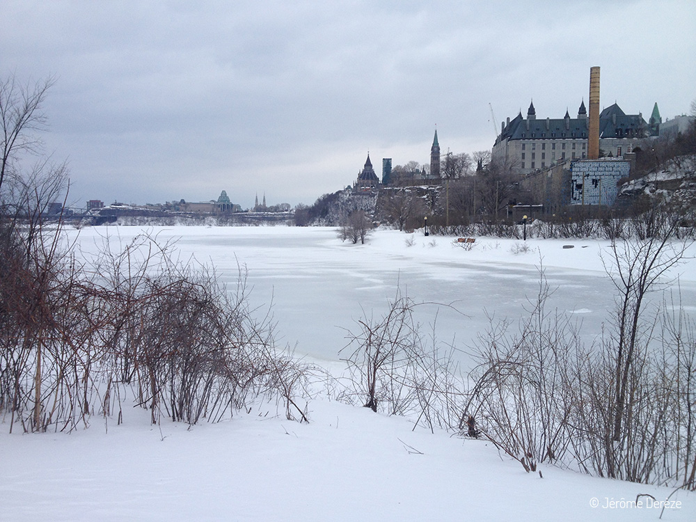 Visiter Ottawa en hiver et le parc major hill
