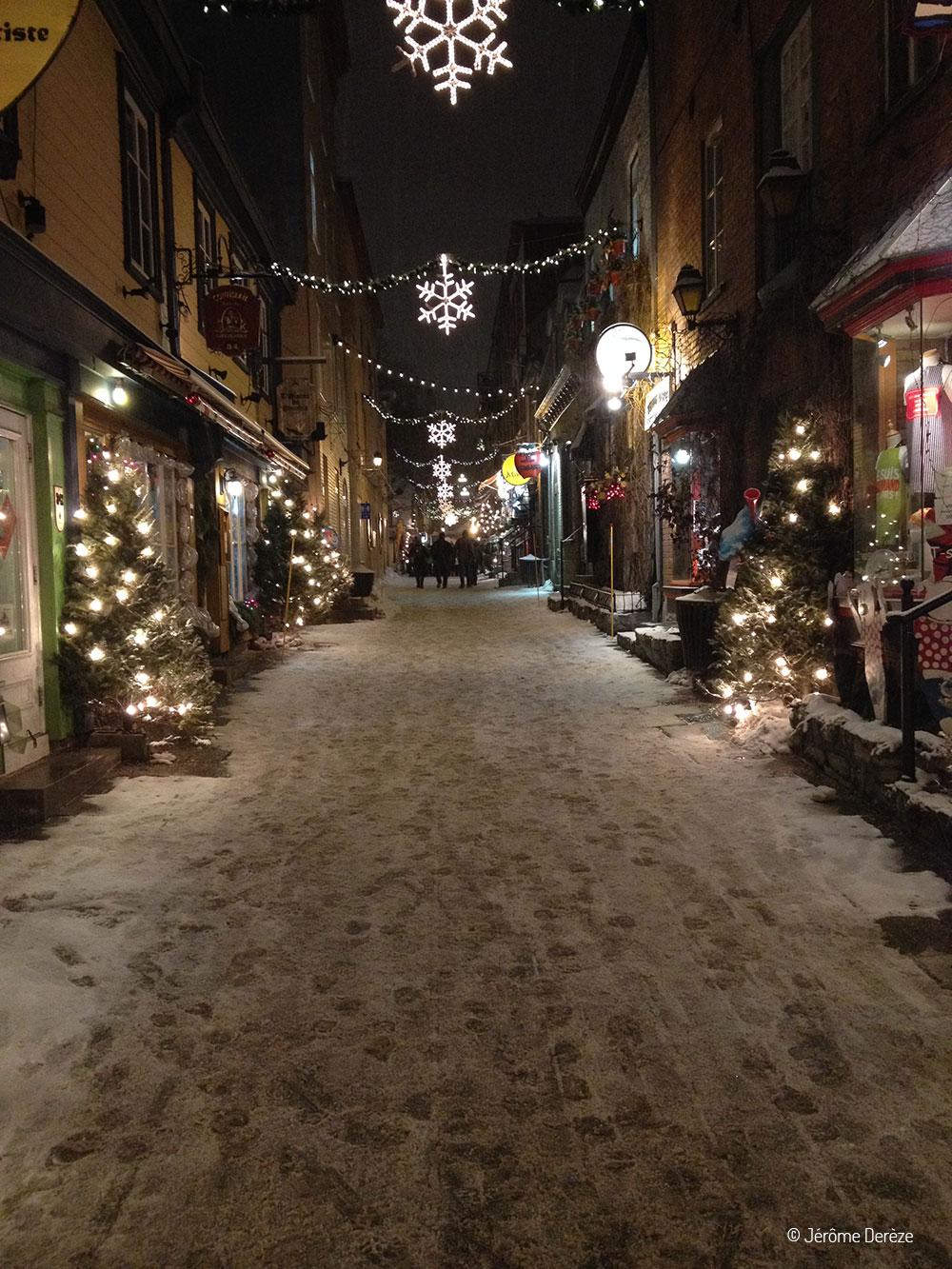 Quartier Le Petit Champlain dans le vieux québec