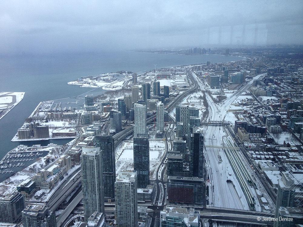 vue sur toronto depuis la tour CN