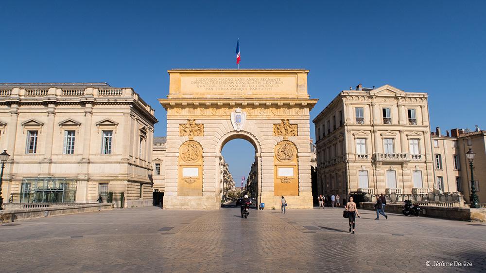 Porte du Peyrou à Montpellier