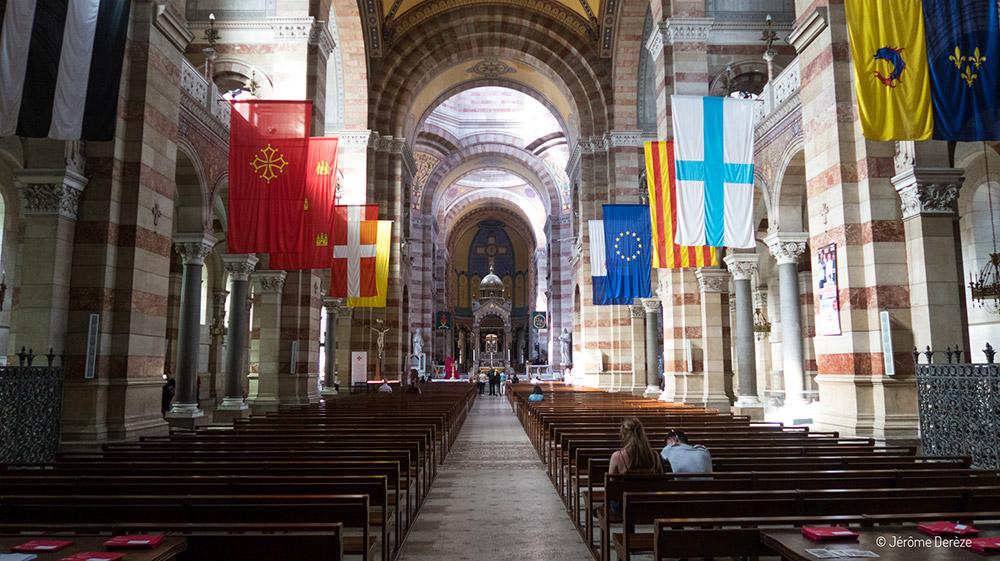 Intérieur de la Cathédrale La Major à Marseille
