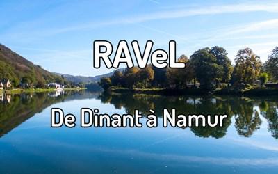 Parcourir le RAVeL de Dinant à Namur