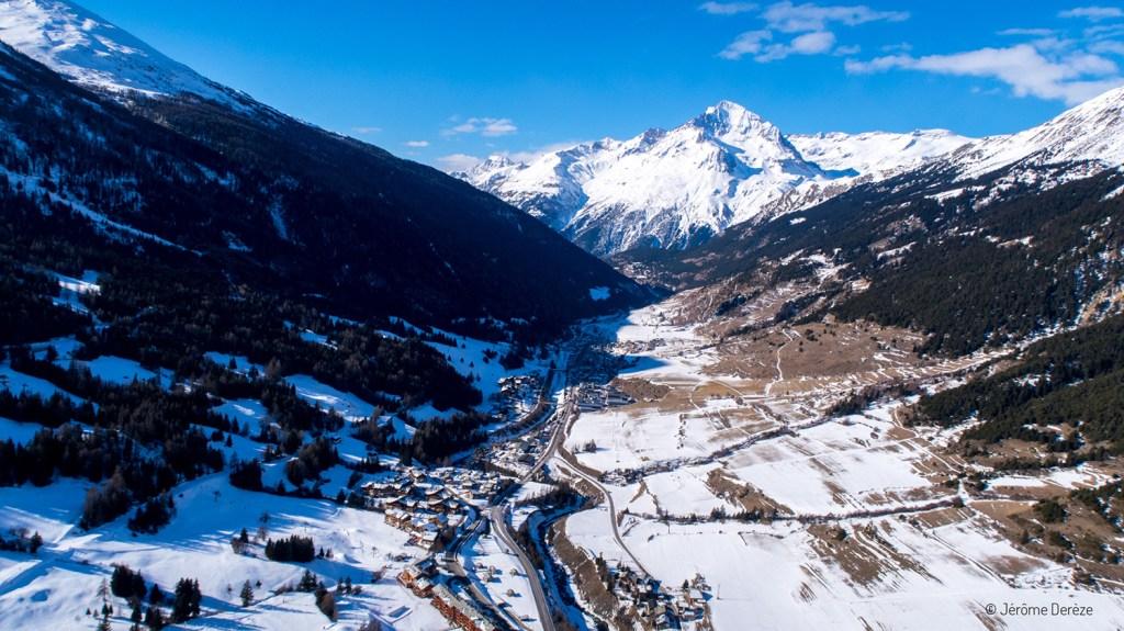 Parapente à Val Cenis en hiver