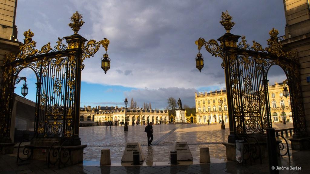 Pluie sur la Place Stanislas