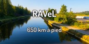 650 km à pied sur le RAVeL