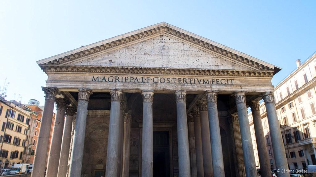 Extérieur du Pantheon de rome
