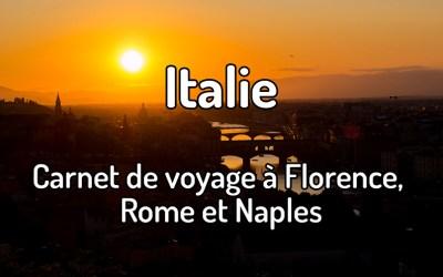 Carnet de voyage en Italie