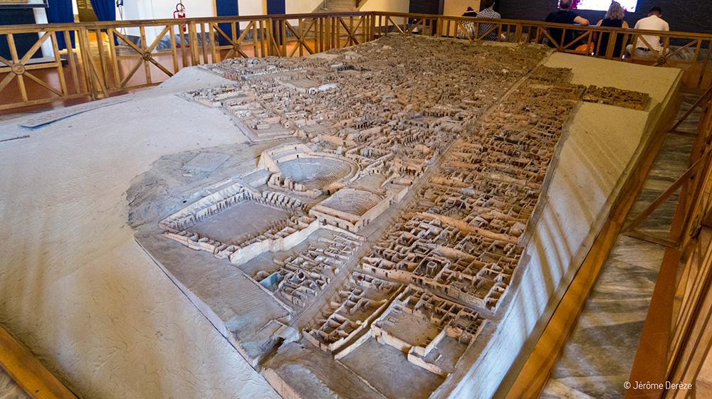 maquette ruines de pompéi au Musée archéologique national de Naples