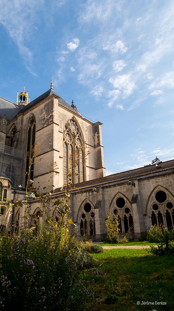 Cathédrale de Toul depuis le Cloître à Toul