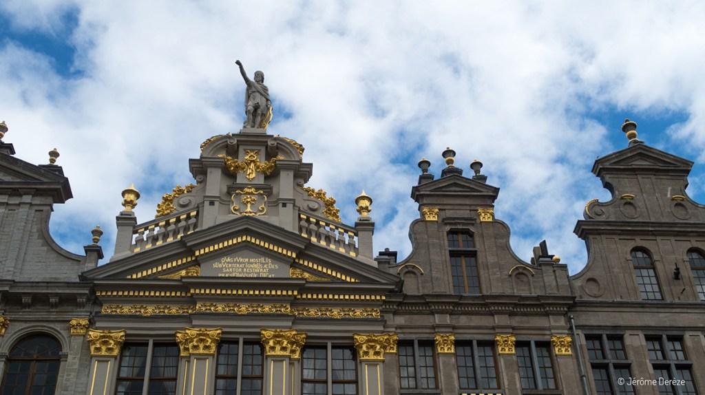 Détails des façades de la Grand Place de Bruxelles