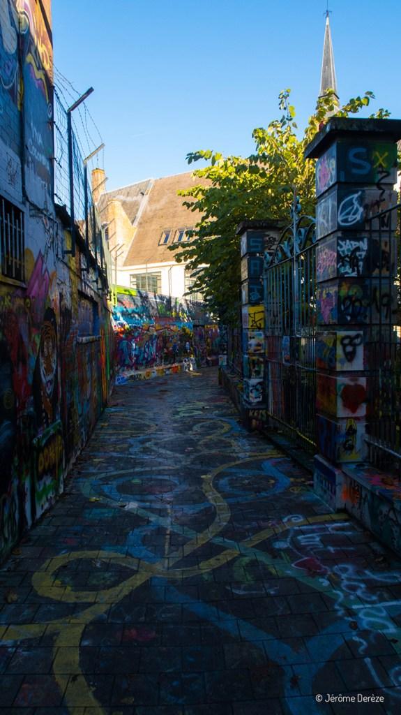 Werregarenstraat - ruelle aux graffitis à gand