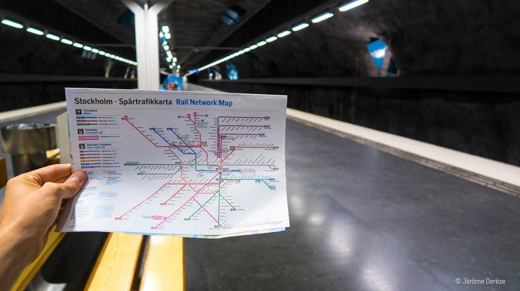 plan de métro de stockholm