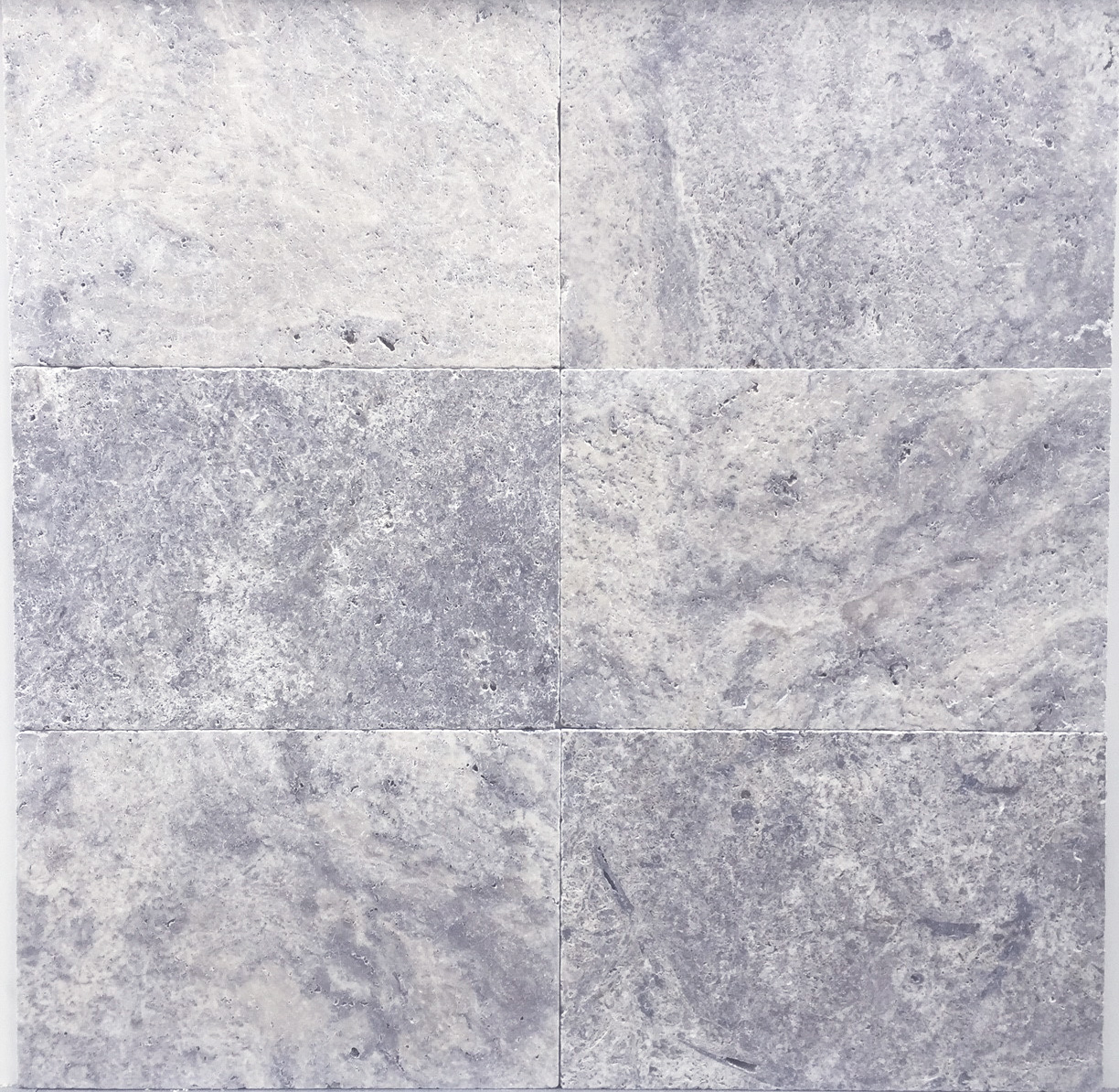silver travertine 610mm x 406mm with tumbled edges and a non slip brushed and unfilled surface