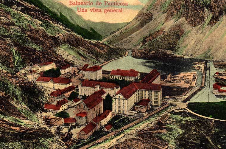 Postal del Balneario de Panticosa / Foto: Bazar X (Wikimedia Commons)