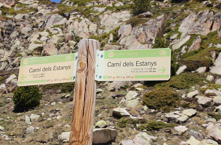 Señalización en el Vall del Madriu Perafita-Claror / Foto: Ferran Llorens (Flickr)