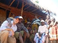 In Nachunyu with Bakari's family.