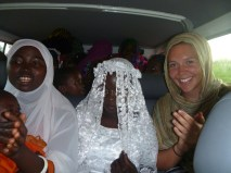 Singing Makonde songs as we drive the bride and groom to the groom's home after the ceremony.