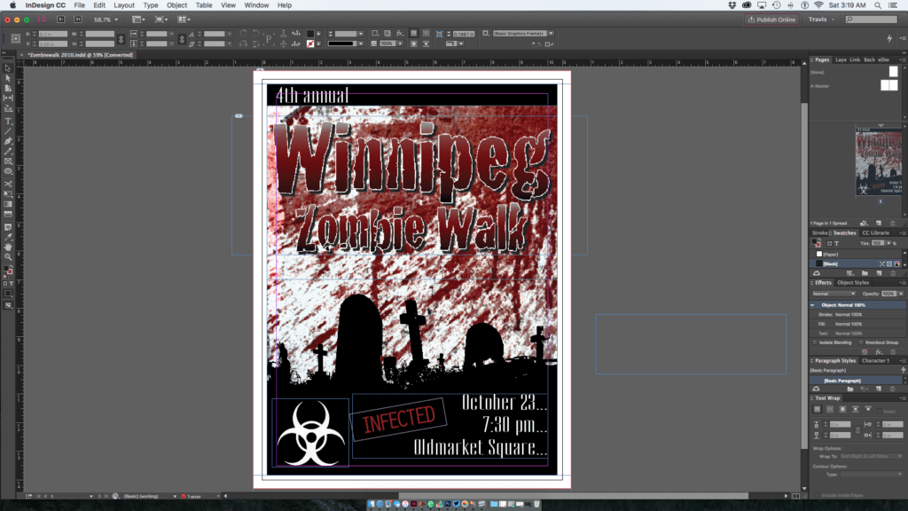 Winnipeg Zombie Walk Poster