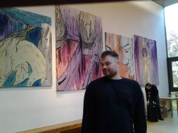 Travis De Vries and his exhibition in Edinburgh prior to the opening of the show and The Edinburgh Short Story Festival at which Travis is opening story teller.