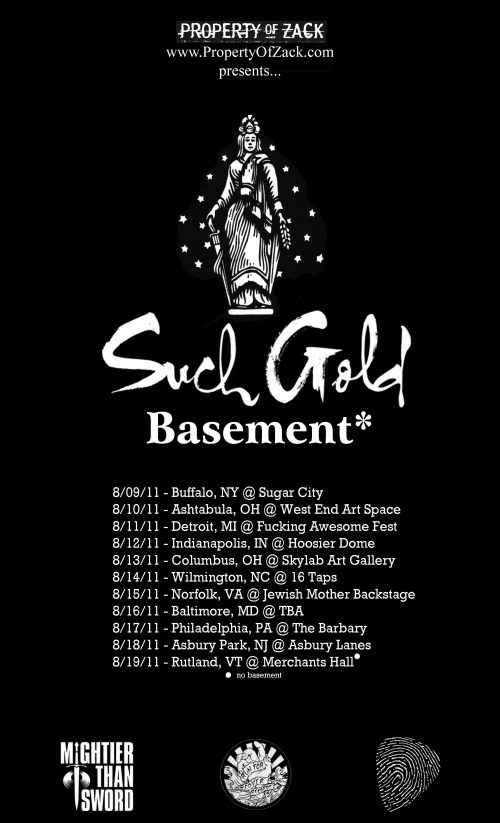 Such Gold And Basement Announce Tour