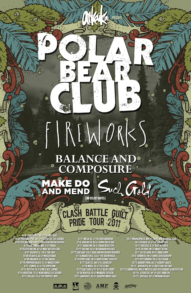 Polar Bear Club Announce Tour With Fireworks, Balance And Composure