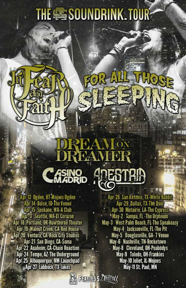 For All Those Sleeping Announce Tour With In Fear And Faith, Dream On Dreamer