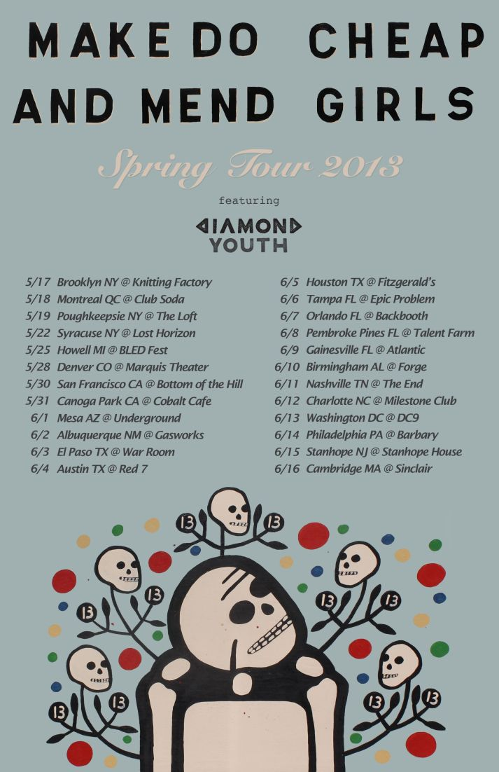 Make Do And Mend And Cheap Girls Announce Co-headlining Tour With Diamond Youth