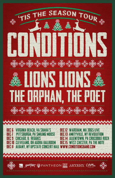 Conditions Announce Holiday Tour With Lions Lions