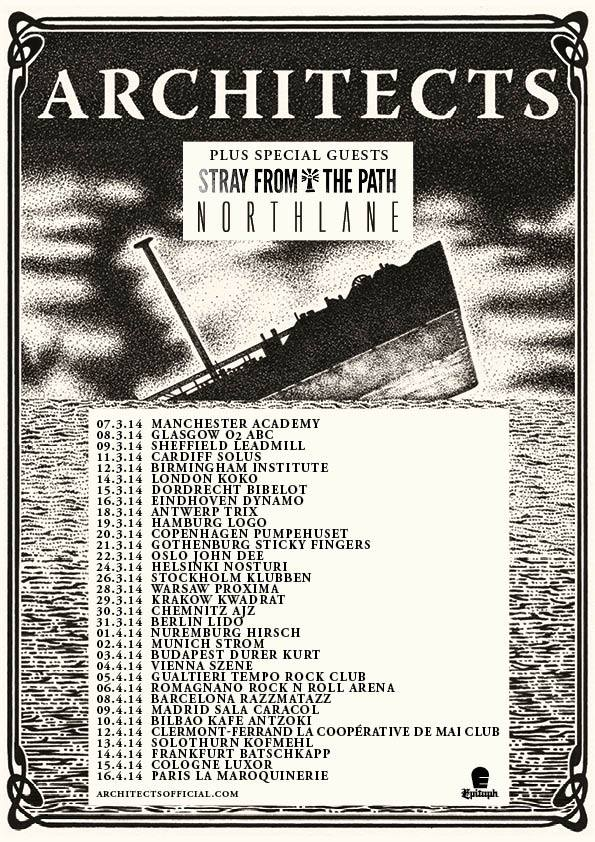 Architects (UK) Announce European UK Tour With Stray From The Path