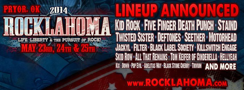 2014 Rocklahoma Festival Lineup